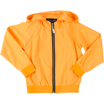 Protect your boy from the elements when spring drizzles roll through with the A For Apple Bran Boys' Rain Jacket. The woven polyester fabric repels light moisture, and is stretchy so he can still move freely on the monkey bars when the weather clears up. - $54.95