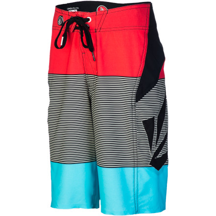 Surf Help your boy conquer his first wave with the Volcom Annihilator Blakely Boys' Board Short. It's super lightweight so it won't drag him down, and the four-way stretch fabric won't hold him back when he's learning how to pop up. - $59.45