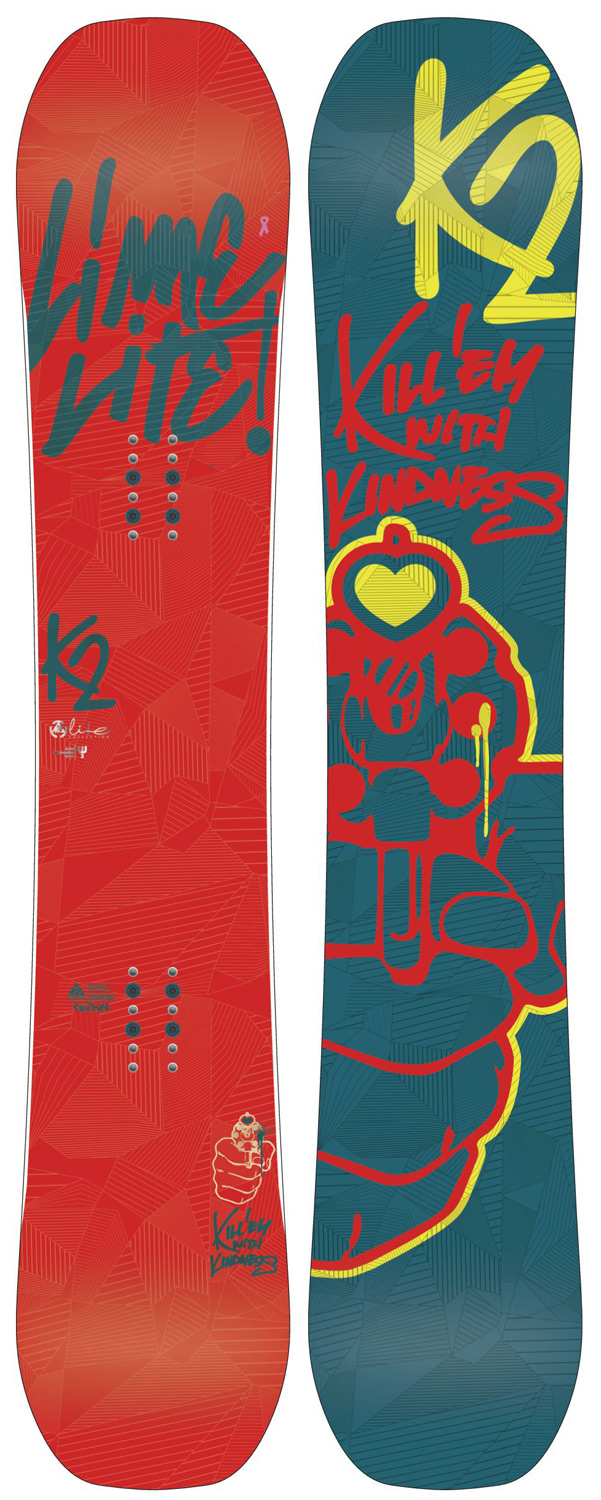 Snowboard STEP ONTO THE FREESTYLE CENTER STAGE The all-new Lime Lite Snowboard is made for the women that rides the whole mountain with a freestyle mindset. The Lime Lite's Jib Rocker Tweakend Baseline sets the perfect balance between a maneuverable jib feel and grip and response when the situation calls for it. Key Features of the K2 Lime Lite Snowboard: Jib Rocker Tweakend Carbon Web I Rhythm Core Baseline: Jib Rocker Tweakend Damping: Standard Construction: Hybritech Shape: Twin Hyper Progressive Stance: Centered Core: Rhythm Core Additives: Carbon Web I Glass: Biax / Biax Base: 2000 Extruded Base Bevel: 1 - $239.95