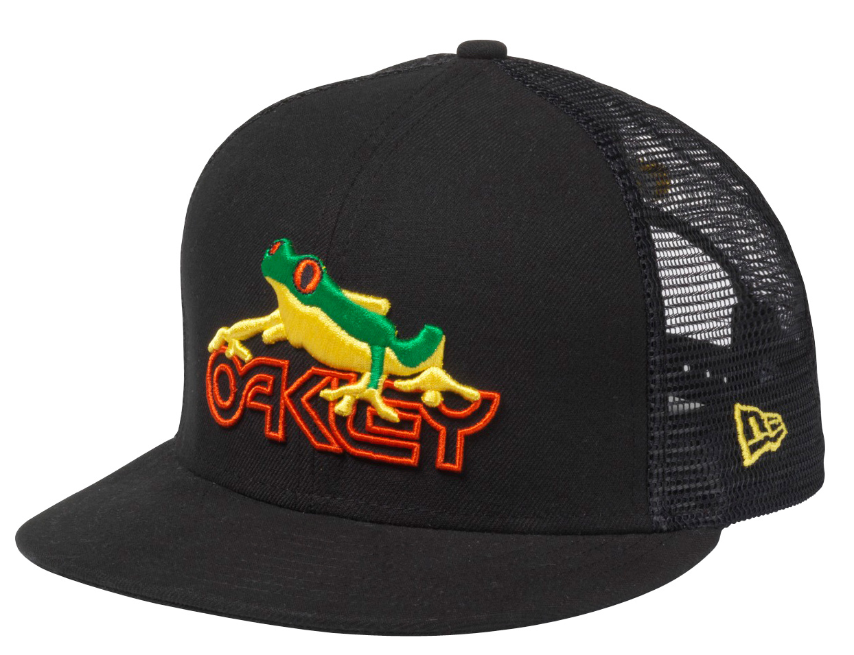 Oakley California fit snap back construction with deep fit, flat brim, raised embroidered logo on front, padded sweatband and moisture wicking material - $30.00