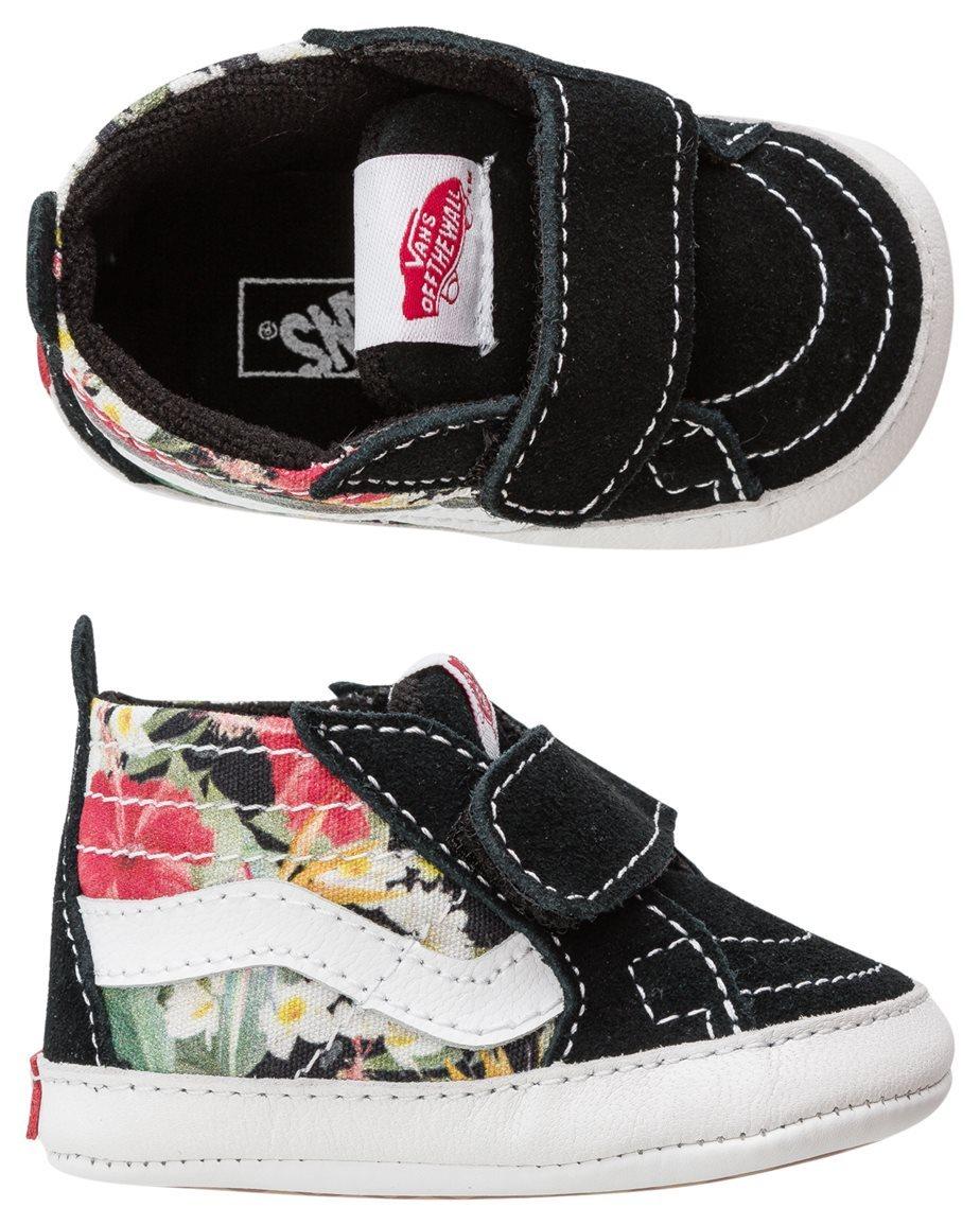 3c4d60a16b79d4 Vans Infant Digi Aloha Sk8-Hi crib shoes. Baby girls  crib shoes.