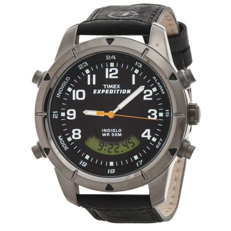 47333b55f Timex Expedition Combo Analog/Digital Watch - Leather Ban... - Thrill On