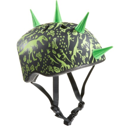MTB The Raskullz Miniz bike helmet offers protection for little noggins, but it's the fun designs they'll love, whether they're riding in a trailer or on a balance bike. - $15.93