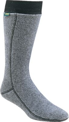 "Fitness This is the softest footwear your feet will ever experience. Polartec socks have a higher warmth-to-weight ratio than natural fiber socks, excellent breathability and are so water-resistant you can shake them dry no matter how wet they get. A rib-knit stretch cuff keeps them from slipping. This is an excellent choice to wear with pac boots, waders or hip boots. Height: 16"". Weight: 3.5 oz. Wall thickness: 0.175"".Sizes: M(5 to 8-1/2), L(9-12), XL(13-15). Color: Gray.Buy three or more and SAVE $2 each. Savings will display at checkout. Approved for Cabela's waterproof, breathable footwear. - $12.88"