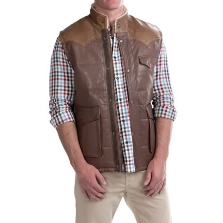 1816 by remington colter down vest leather insulated thrill on