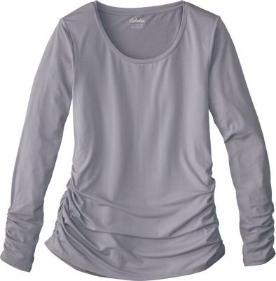 4155d236359e0e Cabela s Women s Ruched Long-Sleeve Tee Shirt - Timber Br... - Thrill On
