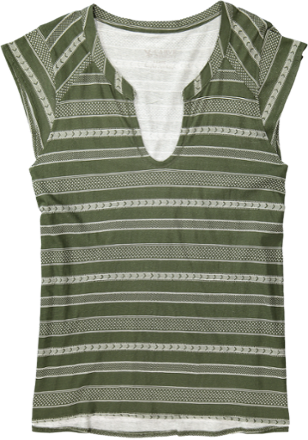 As light and airy as a breezy summer day, the women's Carve Designs Serpico Henley shirt provides floaty, organically grown cotton comfort. - $30.73