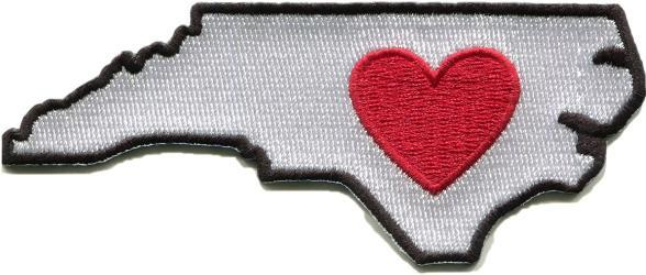 Part sticker, part patch, this Heartsticker.com Heart in NC sticker patch offers the best of both worlds, adhering readily to clothing, soft camping gear or rigid items like coolers and water bottles. - $7.00