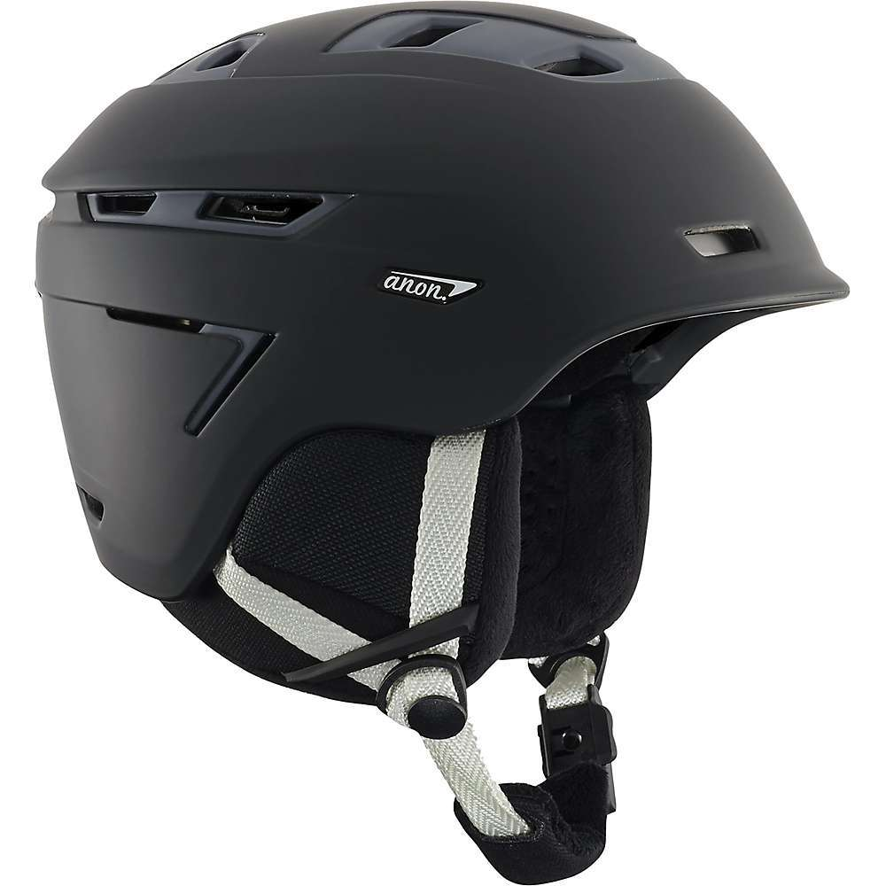Features of the Anon Women's Omega MIPS Helmet MIPS System - Multidirectional Impact Protection System Available on Select colorways In-shell 360Adeg boa Fit system Fidlock snap helmet buckle Active ventilation with 15 total vents In-mold shell construction Goggle ventilation channel Long hair fleece liner and ear pads Audio accessory compatible - $189.95