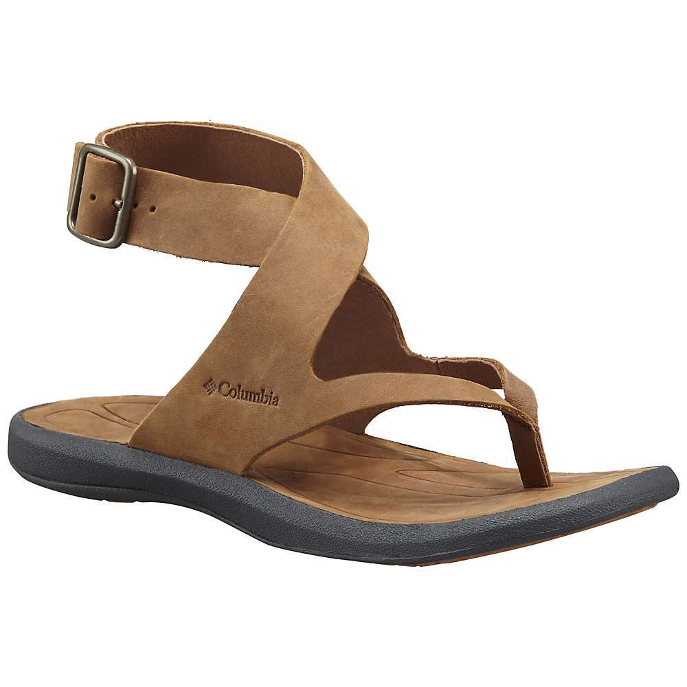 Features of the Columbia Women's Caprizee Sandal Upper: Nubuck Leather Midsole: Techlite lightweight Midsole for long lasting comfort, superior cushioning, and High energy return Outsole: Omni-Grip non-marking traction rubber - $62.99
