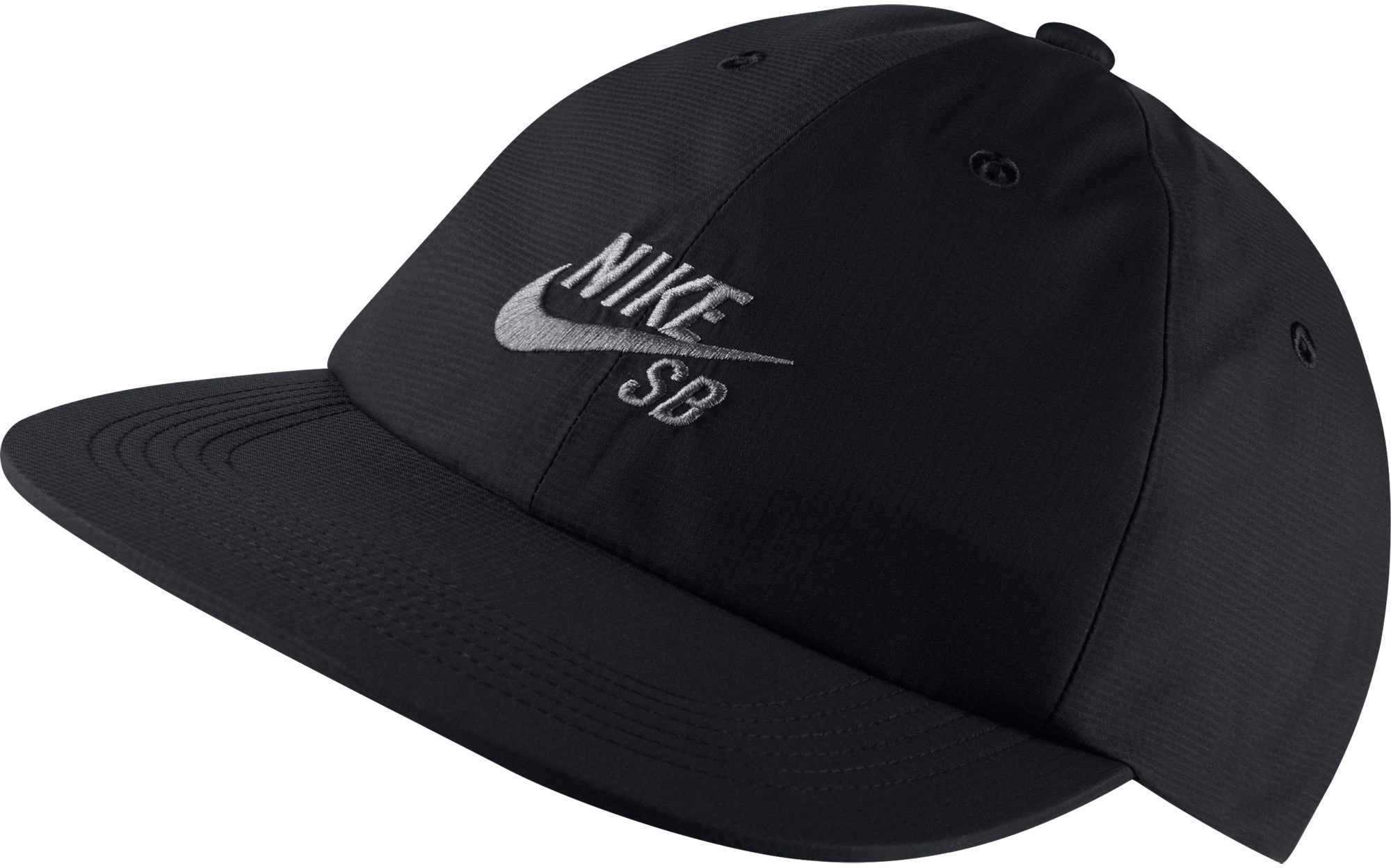 The Nike SB H86 Adjustable Cap is designed to keep rain off so you can stay dry when the weather turns. * Seam-sealed design provides weather protection * Adjustable back closure for a snug, customised fit * Six-panel design offers durability and comfort * Embroidered eyelets enhance ventilation * Fabric: 100% Nylon * Hand Wash * Imported - $30.00