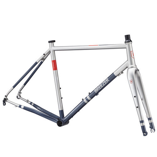 Breezer Inversion 40th Gravel Frameset - 2018. Build your dream gravel bike from the ground up with the Breezer Inversion 40th gravel frameset. Featuring a seamless, double-butted chromoly D'Fusion frame with a new Breeze thru-axle dropout and Apex disc brake mount, the Inversion makes for a truly versatile drop-bar machine. The steel frame provides all-day comfort in the saddle whether you're cruising the back roads with friends, taking on a cyclocross race, or grinding out miles of gravel road. In our opinion, the best part of the ride starts at the end of the pavement, and the Inversion is here to break down the boundaries of what a road' bike can be.  Breezer founder Joe Breeze is one of the pioneers of mountain biking, but he also had roots in the road world as well. This 2018 edition of the Inversion - helping commemorate Joe Breeze's 40-year legacy as a cycling pioneer - is a fitting balance between both the road and off-road worlds that have inspired Joe Breeze. - $759.99