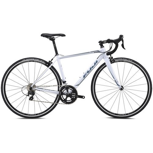 Fuji Roubaix 1.3 Women's Road Bike - 2018.  The Roubaix was designed with the goal of creating one of the lightest aluminum race bikes on the market. With a frame weight of 1090g it sits in an elite class of aluminum road bikes. Svelte as it is, the Roubaix doesn't sacrifice strength or stiffness to be a featherweight.   The Roubaix 1.3 features an A6-SL super-butted alloy frame and full carbon fork for that perfect balance of lightweight and stiffness. Internal cable routing adds for clean aesthetics, improved aerodynamics and longer lasting cable life. A Shimano 105 11-speed groupset and Oval Concepts 52/36T crankset offer efficient power transfer and smooth and reliable shifting. And the Oval Concepts 327 wheelset with Vittoria Zaffiro Pro 700 x 25c will keep things fast and nimble out on the road. - $1,249.99