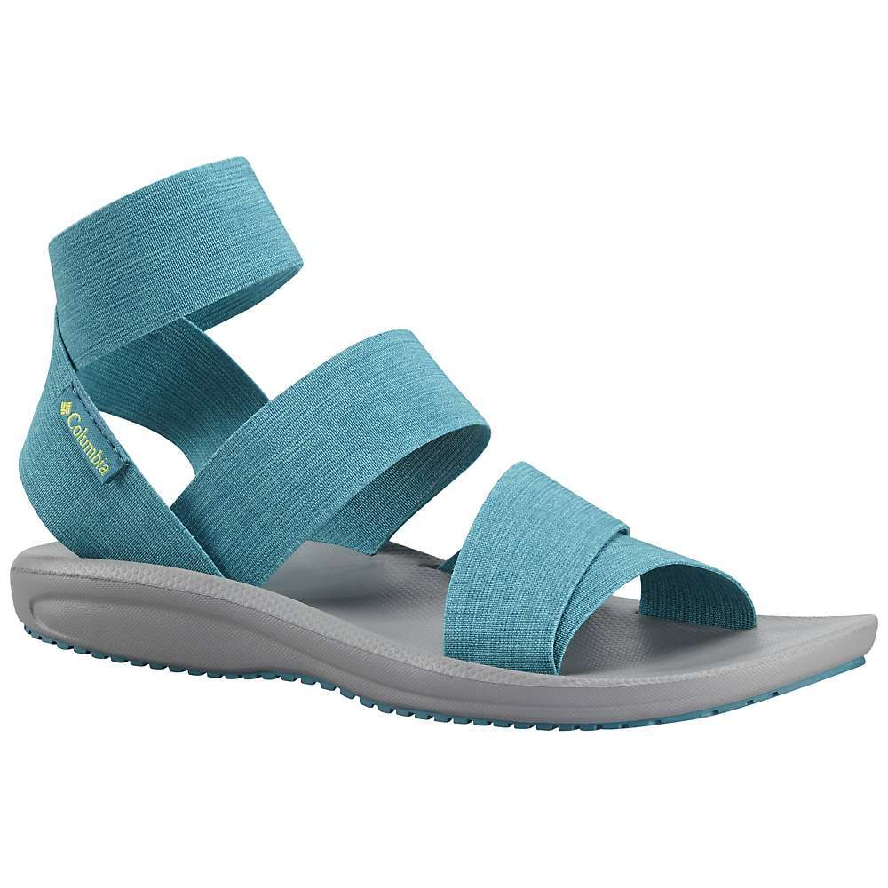 Features of the Columbia Women's Barraca Strap Sandal Upper: Form Fitting textile Upper Midsole: Techlite lightweight Midsole for long lasting comfort, superior cushioning, and High energy return Outsole: Omni-Grip non-marking traction rubber - $48.99