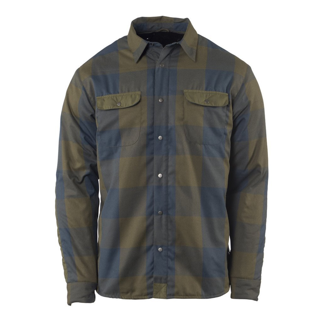 Flylow Sinclair Insulated Flannel - Men's: The Sinclair Insulated Flannel looks like a regular flannel button-up shirt-a staple for all guys living in the mountains-but it comes with 40 grams of Spaceloft(TM) synthetic down insulation to fend off cold breezes. A tough fabric on the forearms protects against scratches.     FEATURES  a   2 chest pockets   a   Duraflex snaps   a   Two buttoned chest pockets     WEIGHT  318 grams (avg)  MATERIAL(s)  100% polyester, 40 grams Spaceloft(TM) insulation - $125.00