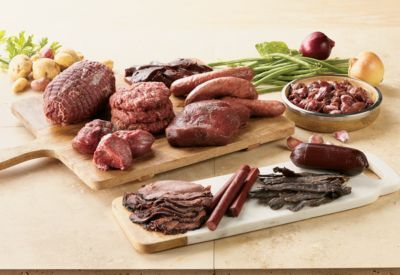 Enjoy a huge variety of delicious venison meats and snacks with our Ultimate Venison Gift Pack. From steaks and roasts to salami and snack sticks, theres enough meat for multiple dinners and quick, easy on-the-go snacks. Ships in an insulated box. Includes 8-oz. smoked roast, three packages of venison sticks, 6-oz. summer sausage, two 8oz. sirloin steaks, 2-lb. roast, four smoked bratwursts, 1-lb. of stew meat, 3oz. of jerky, two 6oz. filet mignon and 12oz. liver.This item ships on Monday or Tuesday only. If you order after Tuesday at noon, you can expect it will ship the following Monday. Type: Venison. - $229.99