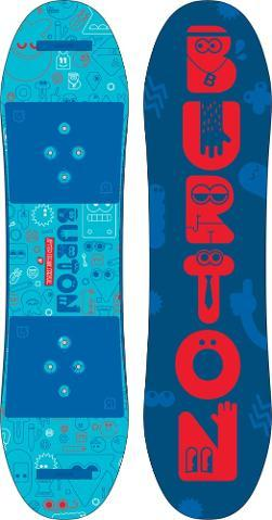 Better than watching hours of cartoons, the Burton After School Special snowboard makes learning fun with soft, parent-friendly bindings and a saucerlike board that teaches balance and board control. - $269.95