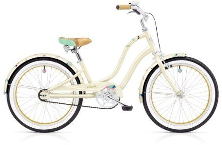 "A gem among stones, the Electra Treasure 1 20"" girl's bike teaches youngsters to use proper leg extension when they ride, encouraging smoother, more efficient energy transfer with every pedal stroke. - $349.00"