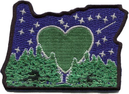 Show the world where your heart lives with the Heartsticker.com Heart in OR sticker patch. Its embroidered design includes an adhesive backing for easy application. - $7.00