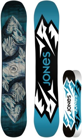 Playful yet precise, Jones Mountain Twin is for freestylin' freeriders who want one board for it all. Shred the entire mountain like your personal skatepark without sacrificing speed or stability. - $499.00