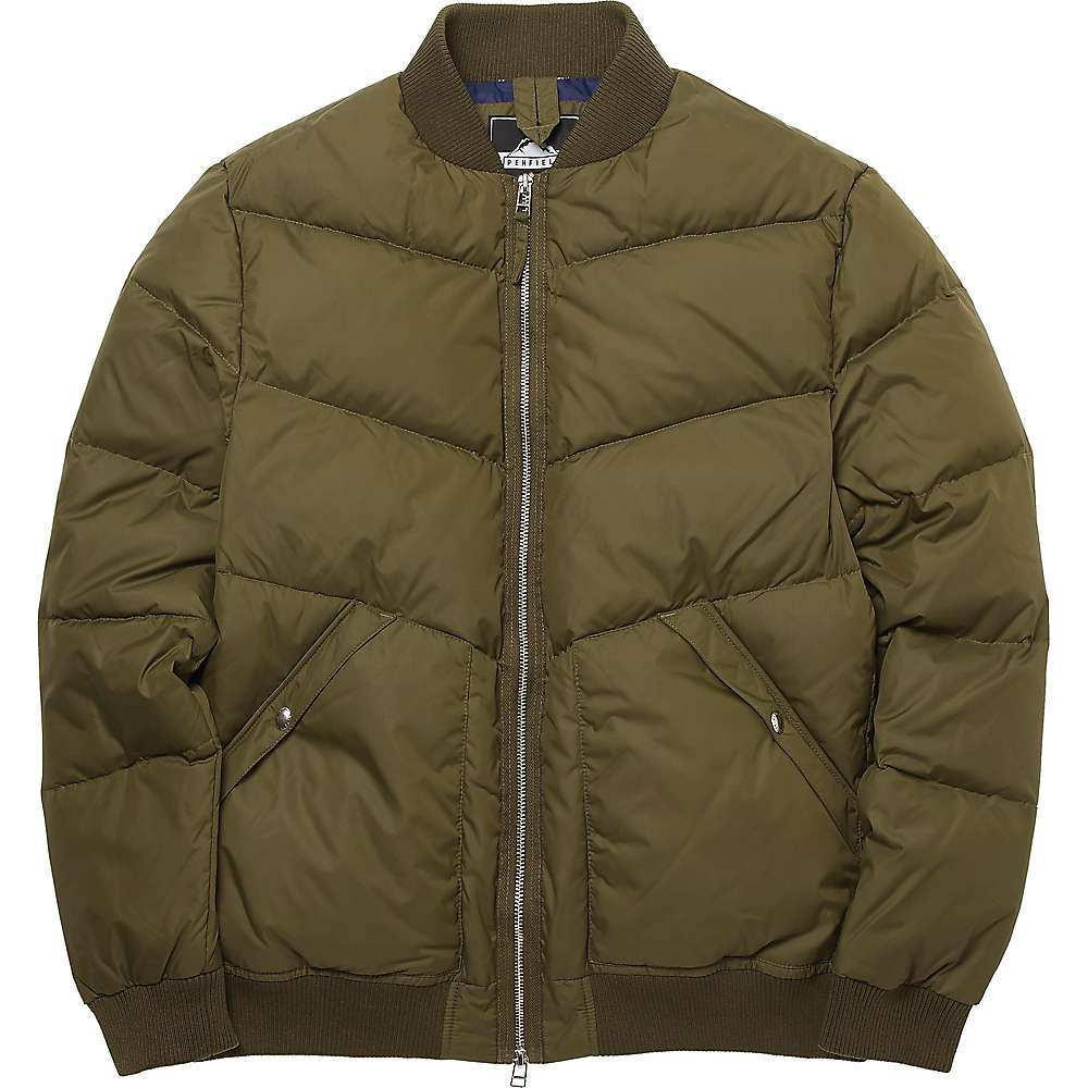 Features of the Penfield Men's Vanleer Jacket Water resistant and wind proof matt nylon fabric Heavy duty metal centre front 2-way zip Rib collar, cuffs and hem 2 lower snap closure pockets Chevron quilt detail - $264.95