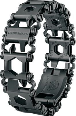Boasting a lightweight design and slim profile, Leathermans Tread LT Black Wearable Tool puts your toolbox right on your wrist without getting in your way. Corrosion-resistant 17-4 stainless steel construction delivers incredible durability. Adjustable in 0.25 increments. Includes 1/4 socket adapter, #2 square drive, bottle opener, 3/32 screwdriver, 1/8 screwdriver, 3/16 screwdriver, 5/16 screwdriver, 1/4 screwdriver, cutting hook, SIM card pick, carbide glass breaker, 3/8 box wrench, 3mm hex drive, 4mm hex drive, 5mm hex drive, 6 mm hex drive, 10mm hex drive, 6mm box wrench, 7mm box wrench, 8mm box wrench, 11mm box wrench, 12mm box wrench, #1 Phillips screwdriver, #2 Phillips screwdriver, pozi #1, pozi #2, torx #20, torx #27, and torx #30. 0.25 adjustments to fit any wrist. Wt: 5.52 oz. Color: Black. Color: Black. Gender: Male. Age Group: Adult. Type: Bracelets. - $175.00