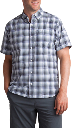 Hike in it, wander, or take it to the backyard BBQ. The men's ExOfficio Sol Cool Leman Plaid shirt offers constant cooling and sun protection for your casual summer adventures. - $51.73