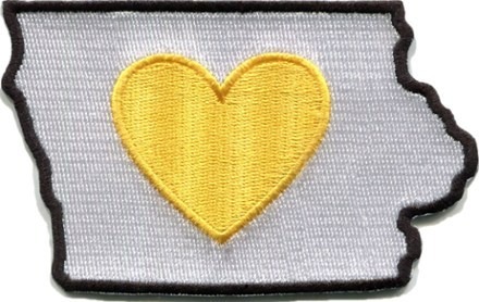 Have a special bond with the Hawkeye State? Display your love for Iowa with a sticky-backed Heartsticker.com Heart in IA sticker patch stuck or sewn onto your favorite piece of outdoor gear. - $7.00