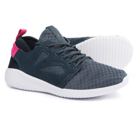 CLOSEOUTS . Itand#39;s easy-on and off-you-go in the airy, lightweight and casual design of Reebokand#39;s Skycush Evolution shoes. The synthetic and mesh upper is lined in more smooth, breathable mesh, and the removable, OrthoLiteand#174; performance insole, EVA midsole and synthetic outsole team up for cushy shock absorption. Available Colors: ROYAL SLATE/COLLEGIATE NAVY. Sizes: 6, 6.5, 7, 7.5, 8, 8.5, 9, 9.5, 10, 10.5, 11. - $34.99