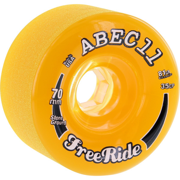 ABEC 11 Stone Ground Freerides Longboard Skateboard Wheels are sold in sets of four skateboard wheels. ABEC 11 offer high performance skateboard wheels in stock with fast shipping. - $47.95