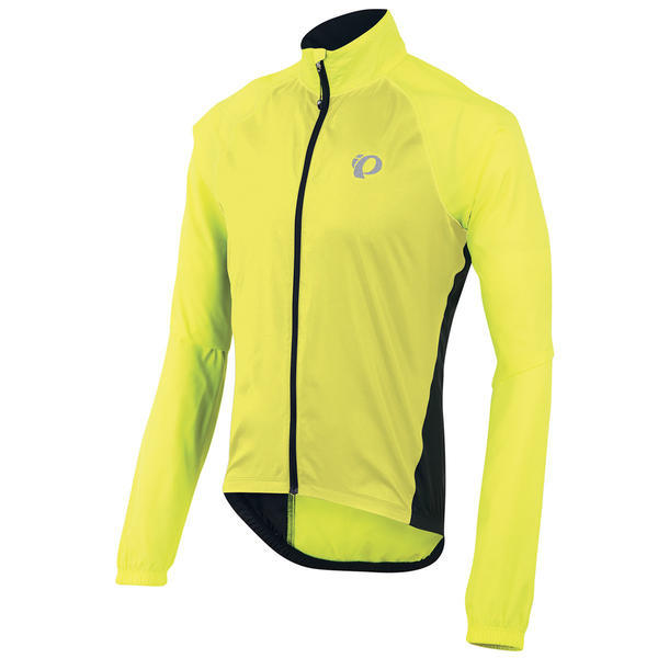 The Elite Barrier Jacket from Pearl Izumi delivers the ultimate in portable weather protection. Pearl's Elite Barrier fabric provides wind and water resistance with breathability so you stay dry no matter the conditions. And, this shell has strategically placed ventilation panels, a front zip with a draft flap, a back hook-and-loop pocket, elasticized cuffs, and reflective accents for extra visibility!    - ELITE Barrier fabric provides superior wind protection and water resistance  - Full length, center zipper with draft flap and zipper garage seals in warmth  - Contoured, shaped sleeve hem adds warmth  - Elasticized hem and cuffs  - One back Hook and Loop pocket  - Collar tapers from front to back for on-bike ergonomics  - Reflective elements for low-light visibility - $90.00
