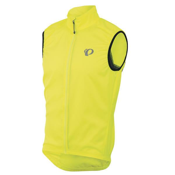 Bring Pearl Izumi's Elite Barrier Vest as portable insurance against finicky weather. Its lightweight Elite Barrier fabric keeps the elements at bay and when the sun shines on your ride it easily packs into a pocket. The draft flap behind the zipper blocks out wind while the tapered high collar provides miles of comfort and warmth. And, this sleek vest also boasts a rear hook-and-loop pocket, a large back vent panel, and reflective details for extra visibility!     - ELITE Barrier fabric provides superior wind protection and water resistance  - Direct-Vent panels provide superior ventilation  - Full-length zipper with draft flap and zipper garage seals in warmth  - Elasticized hem and armholes  - One back Hook and Loop pocket  - Collar tapers from front to back for on-bike ergonomics  - Reflective elements for low-light visibility - $80.00