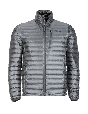 """Built with 800 power-fill down to keep your core toasty in the coldest of conditions, the Quasar Nova men's jacket from Marmot is not one to disappoint. The baffled seams are the key - the down is snugly in place and can't shift around to allow cold spots. With hand and chest pockets to store your valuables, and an elastic drawcord for a great fit, Marmot's Quasar Nova jacket covers all the bases.   	 		800 power-fill down insulation is warm and cozy 	 		Baffled seams keep insulation in place 	 		Angel-Wing Movement for comfortable mobility  ."""""" - $250.00"