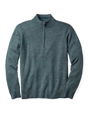 """The men's Kiva Ridge A 1/2 zip sweater from Smartwool offers casual comfort and style with the performance power of Merino wool, to keep you warm and stylish this season. The half zip top makes this pullover easy to get on in the morning, and gives you some control over the temperature throughout the day. The merino wool blend makes this sweater light yet warm, while the ribbed collars and cuffs create unrestricted comfort. Smartwool's Kiva Ridge A 1/2 zip is the perfect choice for the office, a dinner date, or even just hanging out inside this winter season.   	 		Lightweight yet warm 	 		Relaxed fit for layering and comfort 	 		Front zipper for easy on and off  ."""""" - $120.00"