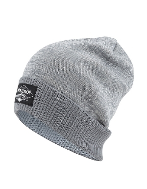 """A slouch fit provides comfort and style for the JT cap from Marmot. This double layer knit beanie is made with a warm acrylic knit to keep your head toasty on chilly days. A woven label on the cuff lets you share the Marmot love.   	 		Double layer knit for warmth 	 		Marmot label adds style 	 		Slouch fit for comfort and style"""""" - $30.00"