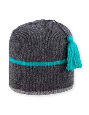 """A thin contrast stripe and a matching tasseltopper bring unique and playful style to the women's Comet beanie from Pistil. The knit construction provides thermal insulation to keep you warm.   	 		Knit construction for thermal insulation 	 		Stripe and tassel details add style"""""" - $42.00"