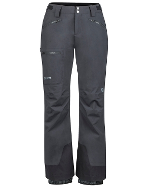 """Packed with all of the features you need for an epic day at the resort, the Marmot women's Refuge ski pant will not let you down. Waterproof and breathable MemBrain material, combined with Thermal R insulation, keeps you warm, dry, and fresh. Taped seams and water-resistant zippers provide an extra defense against water and snow. A RECCO Avalanche Reflector, internal elastic gaiters, and durable Cordura scuff guards are features you won't want to go without. Reverse brushed tricot seat and knees, and zippered leg vents provide even more comfort in the durable and functional women's Refuge ski pant from Marmot.   	 		Plenty of water-resistant zippered pockets for secure storage 	 		Adjustable waist helps you find the perfect fit 	 		Thermal R insulation provides warmth 	 		Embedded RECCOreflector aids some avalanche searches  ."""""" - $200.00"