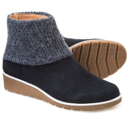 d8150b49ec8b Adrienne Vittadini Tevin Knit-Cuff Booties - Suede (For W... - Thrill On