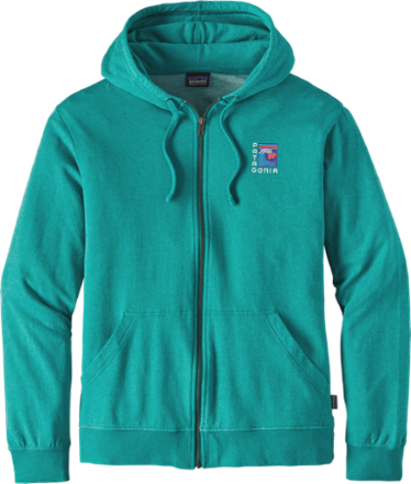 Keep the surf close to your heart in the soft, pill-resistant men's Patagonia Viewfinder lightweight full-zip hoodie. - $61.73