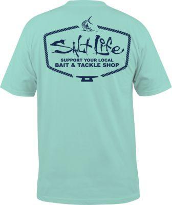 b3218693d50 Salt Life Men s Bait Tackle Short-Sleeve Tee Shirt - Arub... - Thrill On