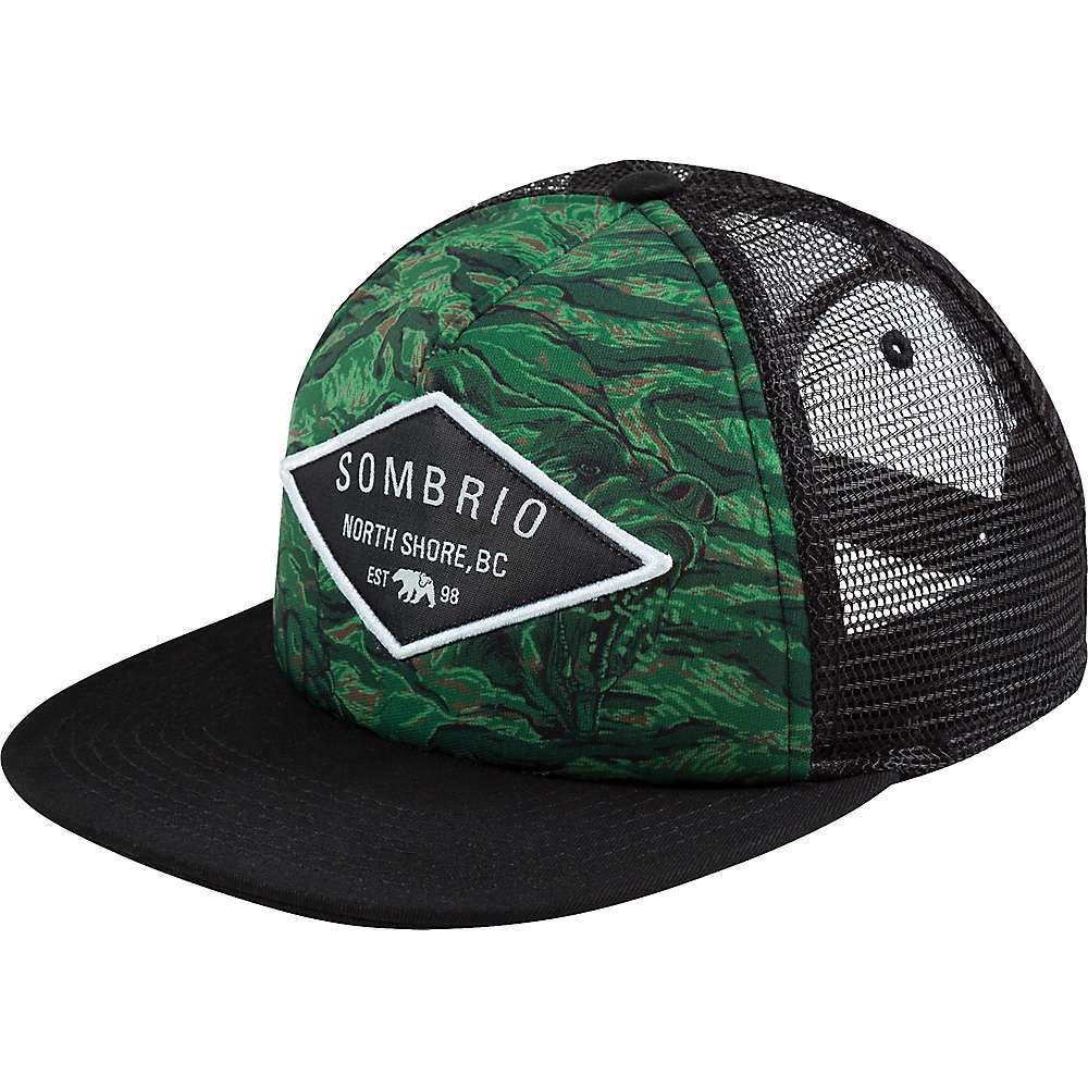 6de52cbb027 Features of the Sombrio Men s Cypress Flatbrim Hat Printed graphics
