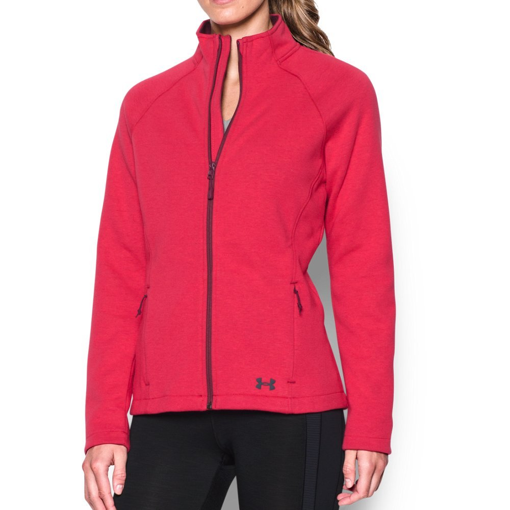 Bonded, 2-layer microfleece with soft, brushed interior  Raglan sleeves   Easy full-zip front with stand collar for extra coverage  Princess seams create a slimmer, more streamlined silhouette  Secure zip hand pockets - $56.24
