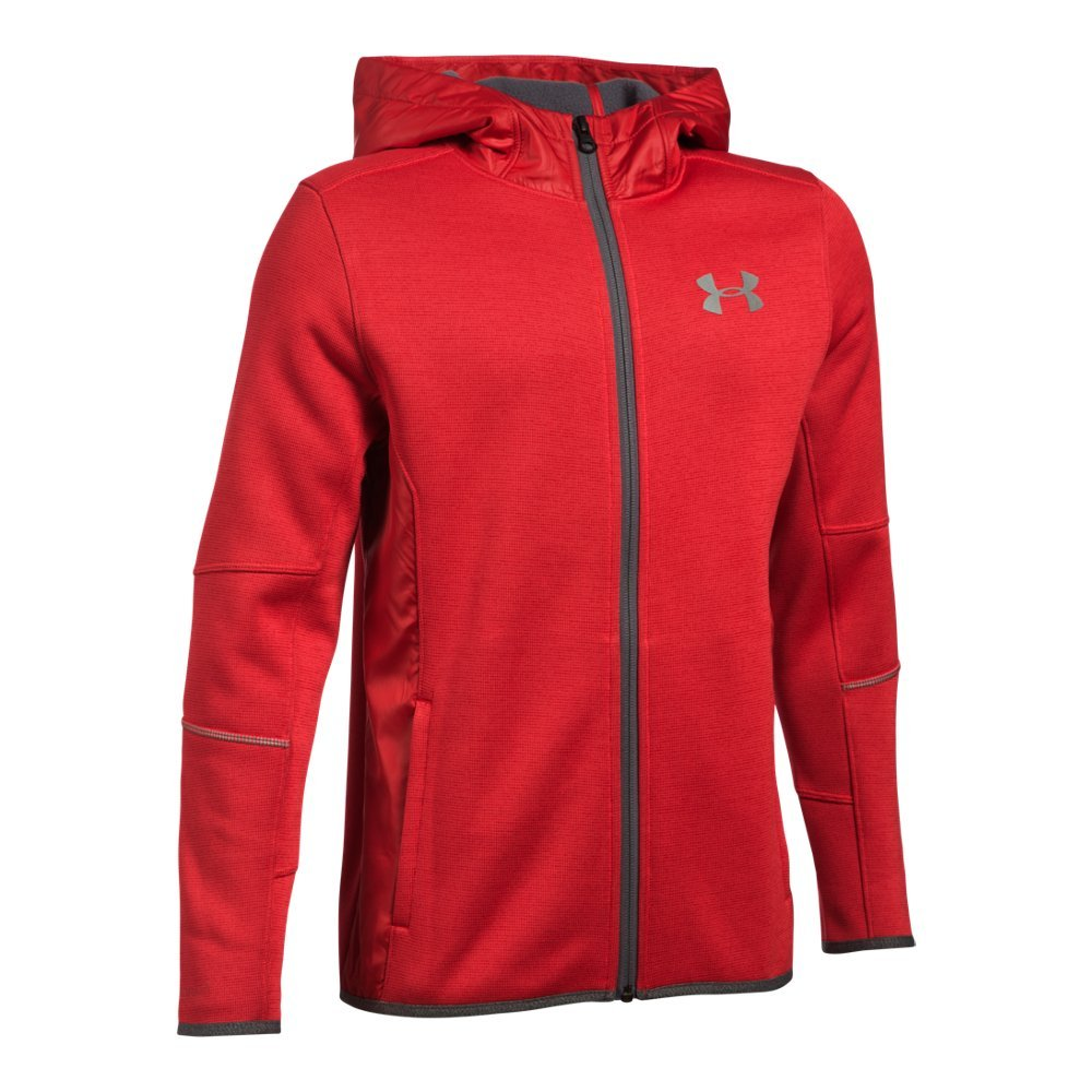 UA Storm technology repels water without sacrificing breathability  Wind-resistant bonded construction for lightweight protection   Swacket fabric is ultra-soft so it feels like a sweatshirt, only more protective  Woven overlays add protection & hold in warmth  Secure hand pockets with right-side internal phone pocket  Lycra binding on cuffs & hem - $74.99