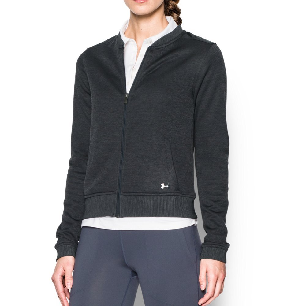 UA UA Storm technology repels water without sacrificing breathability  Durable sweater-knit fabric delivers unrivaled comfort & performance  Tough woven overlay on shoulders, back yoke & collar  Material wicks sweat & dries really fast  Rolled forward shoulder seams eliminate pressure points  Soft, lined hand warmer pockets  Ribbed collar, cuffs & hem - $47.99