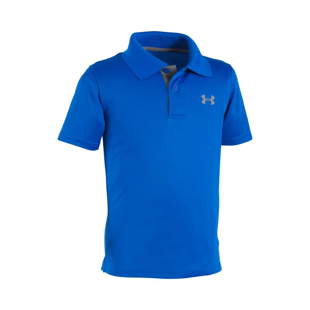Soft, lightly-textured fabric with durable ribbed collar  Material wicks sweat & dries really fast  3-button placket for easy on/off  Polyester  Imported - $26.99