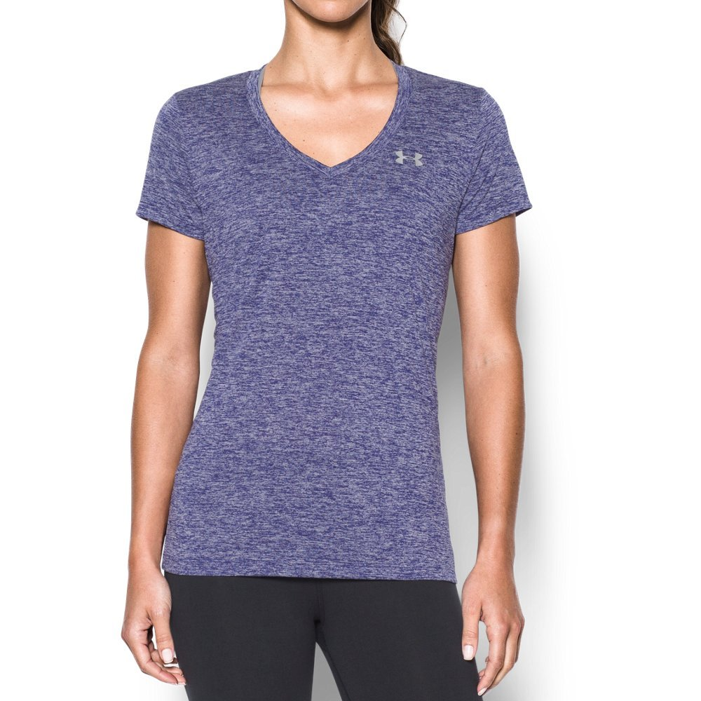 UA Tech(TM) fabric is quick-drying, ultra-soft & has a more natural feel  Material wicks sweat & dries really fast  4-way stretch construction moves better in every direction   Anti-odor technology prevents the growth of odor-causing microbes  Deep V-neck collar   Allover twist effect - $18.74