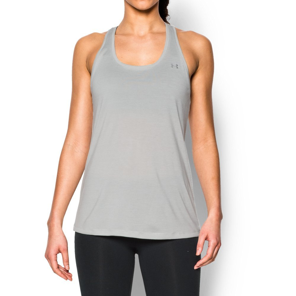 Super-soft UA Tech(TM) fabric delivers incredible all-day comfort  Signature Moisture Transport System wicks sweat to keep you dry & light  Lightweight stretch construction improves mobility for full range of motion  Anti-odor technology prevents the growth of odor-causing microbes  Classic racer back design  Allover heathered twist - $18.74