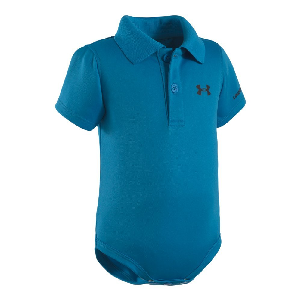 Soft, lightly-textured fabric with durable ribbed collar  Material wicks sweat & dries really fast  3-button placket & 3-snap bottom allow easy changing - $20.00