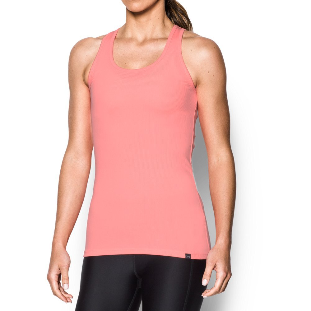 UA Tech(TM) fabric is quick-drying, ultra-soft & has a more natural feel  Material wicks sweat & dries really fast  Anti-odor technology prevents the growth of odor-causing microbes   Slim, fitted construction for a sleeker, more feminine silhouette   Classic racer back detail with mesh panels for unrivaled breathability - $14.99