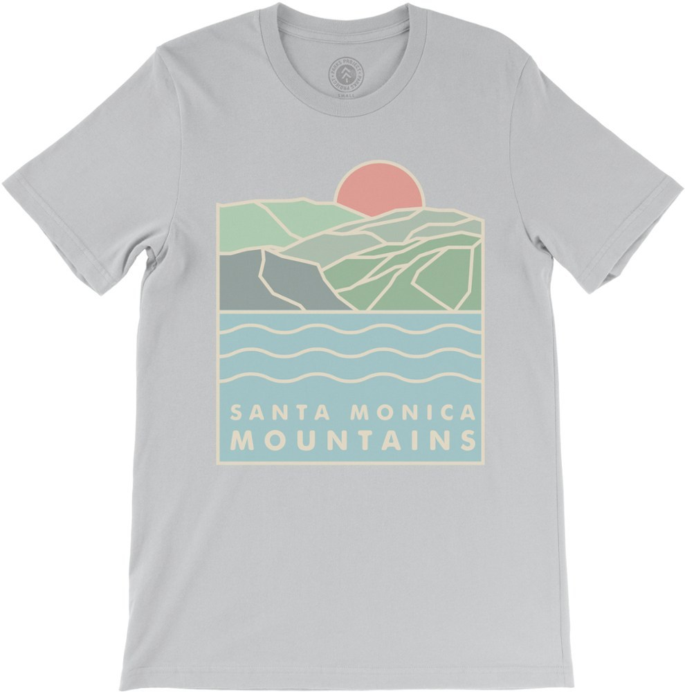 Help inner city kids visit mountains for the first time when you purchase this Parks Project Santa Monica Seaview T-shirt. It celebrates California's sun-kissed mountains and salty sea air. - $36.00